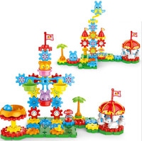 Revolving toy plastic gear Blocks Creative Gear toys Electronic building DIY 3D Puzzle building toys learning Education toys