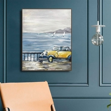 Watercolor Scenery Car Canvas Painting CalligraphyPrint Poster Picture Wall Modern Minimalist Bedroom Living Room Decoration