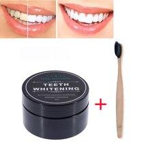 2 шт натуральный активированный бамбуковый уголь отбеливающий порошок для зубов с зубной щеткой Антибактериальный зубной порошок удаление пятен Чистка