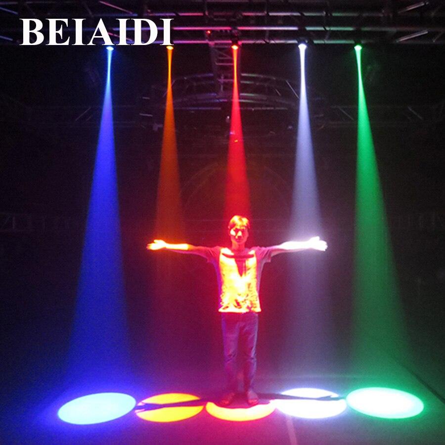 BEIAIDI 5PCS 5W LED Spotlight Mounted Beam Pinspot Stage Lamp Wash Narrow Beam Pinspot Dj Disco