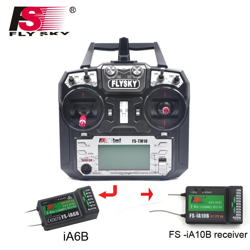 Flysky FS TM10 2 4G RC Transmitter Controller 10 6CH iA10B or iA6B Receiver FS i6