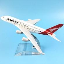 FREE SHIPPING 16CM A380 QANTAS METAL ALLOY MODEL PLANE AIRCRAFT MODEL TOY AIRPLANE BIRTHDAY GIFT