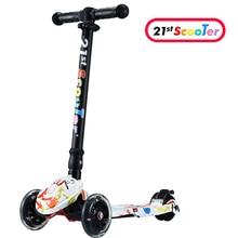 GF06 детский мини-ножной скутер с 3 мигающие ПУ колеса 3 файлов регулировка высоты ног скутер камока