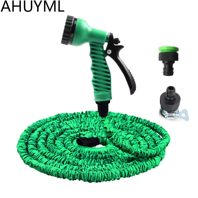 Garden Spray Lawn Sprinkler Car Wash Water Gun Ajustable Hose Nozzles 7Pattern High Pressure Power Washer Automatic Watering Kit