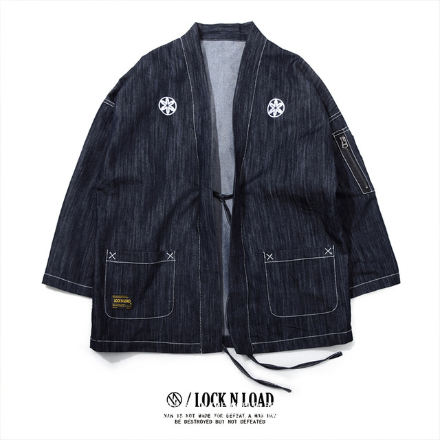 Men's kimono Japanese clothing street fashion casual / kimono jacket Harajuku Japanese style sweater coat
