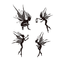 4pcs fairy Set Silicone Transparent Rubber Stamp background clear Stamps DIY Scrapbooking card making