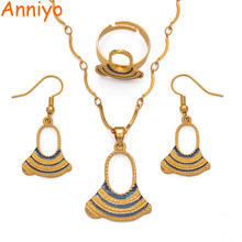 Anniyo Papua New Guinea Enamel Pearl Pendant Necklaces Earrings Ring Women Girl PNG Wedding Jewelry set #017316(China)