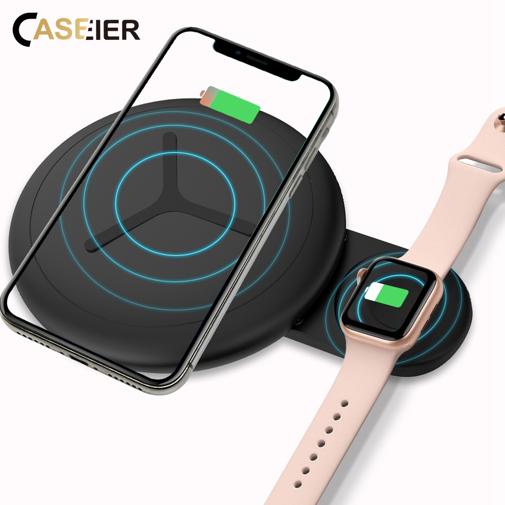 Caseier Wireless-Charger Apple IPhone Xr Samsung S9 QI For XS Max Xs-X-8plus S8 Fast