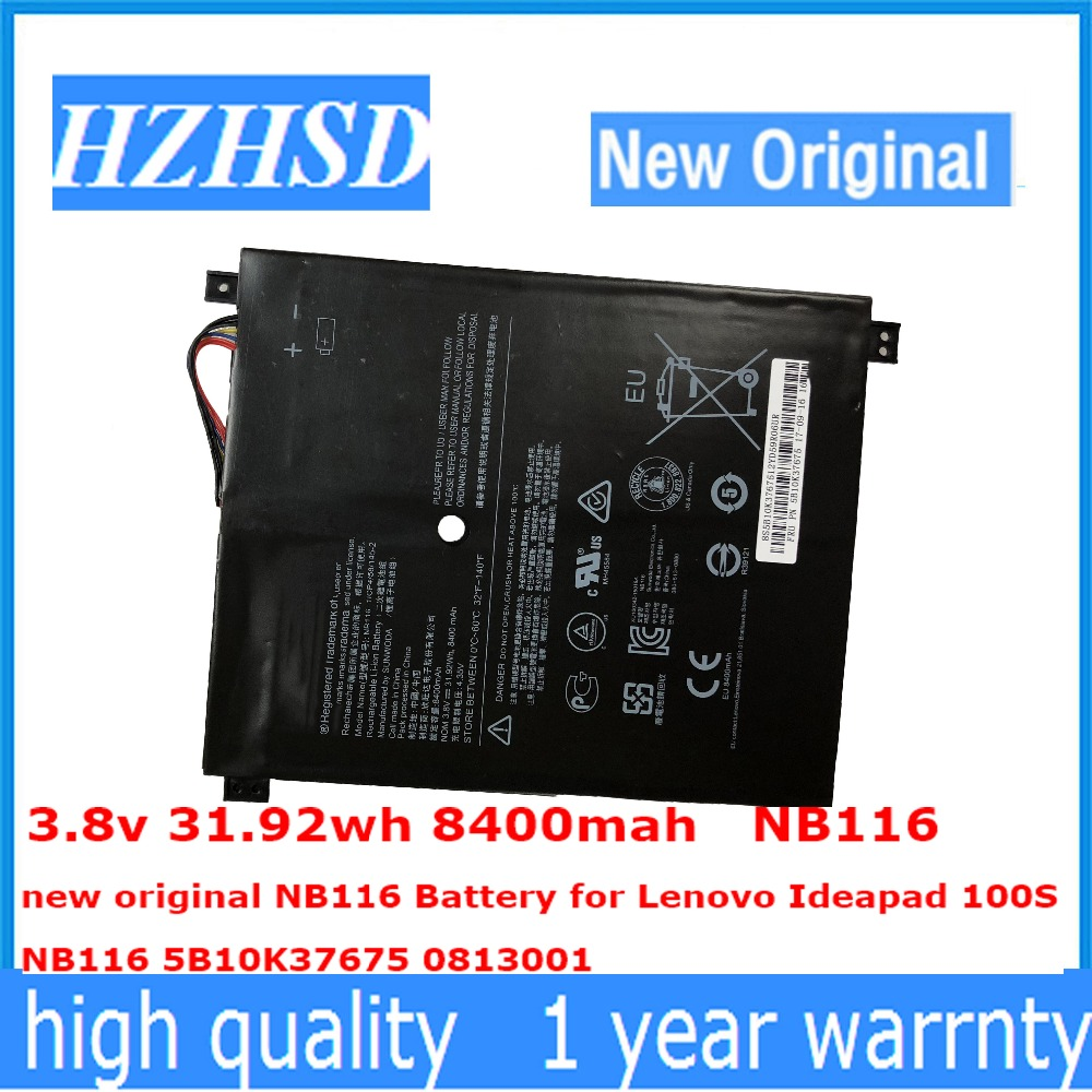 3.8v 31.92wh 8400mah NB116 new original NB116 Battery for Lenovo Ideapad 100S NB116 5B10K37675 0813001