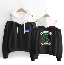 Riverdale Off-shoulder Women Hoodies Sweatshirt Streetwear Long Sleeve Exclusive Kpop Fashion Casual South Side sexy Sweatshirt(China)