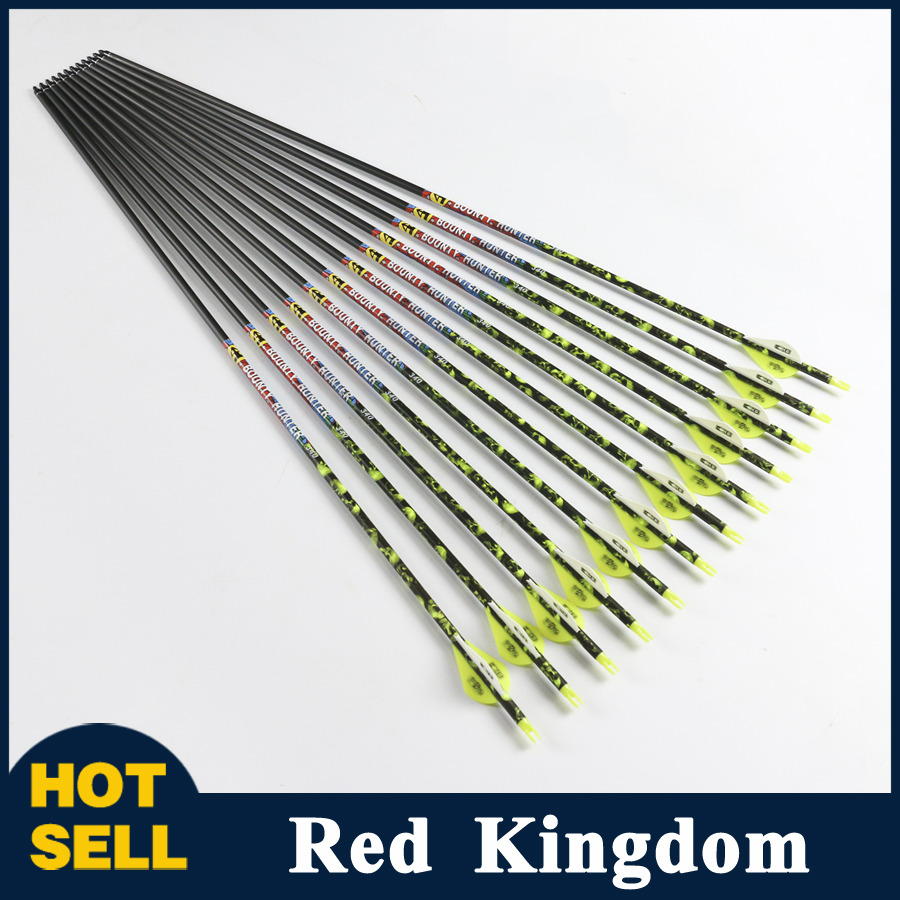 High Quality 6/12 Pcs Pure Carbon Arrow Length 30 Inches Spine 300/340 for Compound Bow Archery Hunting Shooting new english laptop keyboard for thinkpad e531 l540 e540 w540 w541 t550 t540p us keyboard replacement fru 01ax160