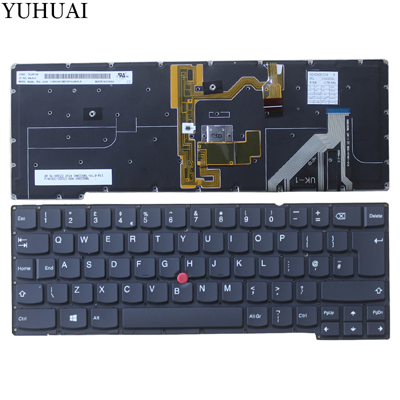 NEW UK Laptop keyboard with backlit for lenovo thinkpad X1C 2014 x1 carbon gen 2 type