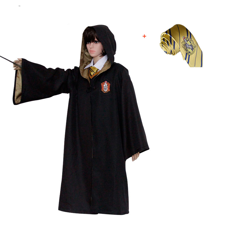 Harri Potter kimono cabo capa Gryffindor/SlytherinRavenclaw/Hufflepuff traje Cosplay disfraces niños adultos para Hermione Ron cosplay