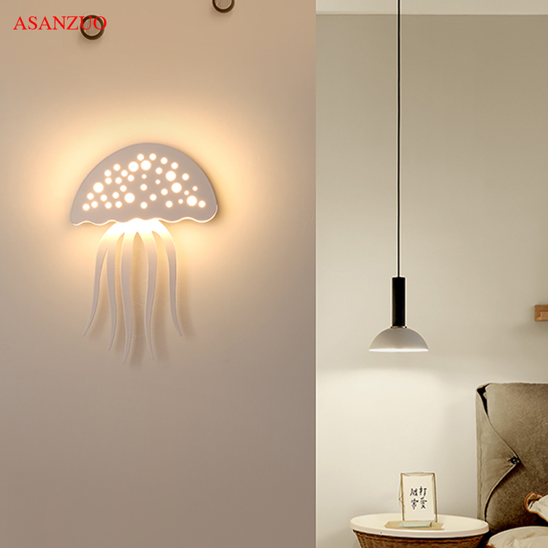 creative acrylic indoor led wall sconce lamps modern living room bedroom stairs lights