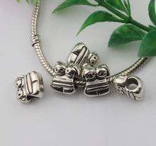 Wholesale 26pcs Cute Twins Girl Spacer Beads Fit European Charm Bracelet 13x10mm (3283)
