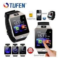 Hot koop DZ09 Mannen Smart Horloge Ondersteuning Sim-kaart Dail Call Smartwatch Telefoon Vrouwen Kids dz 09 Bluetooth Horloge Voor Android IOS