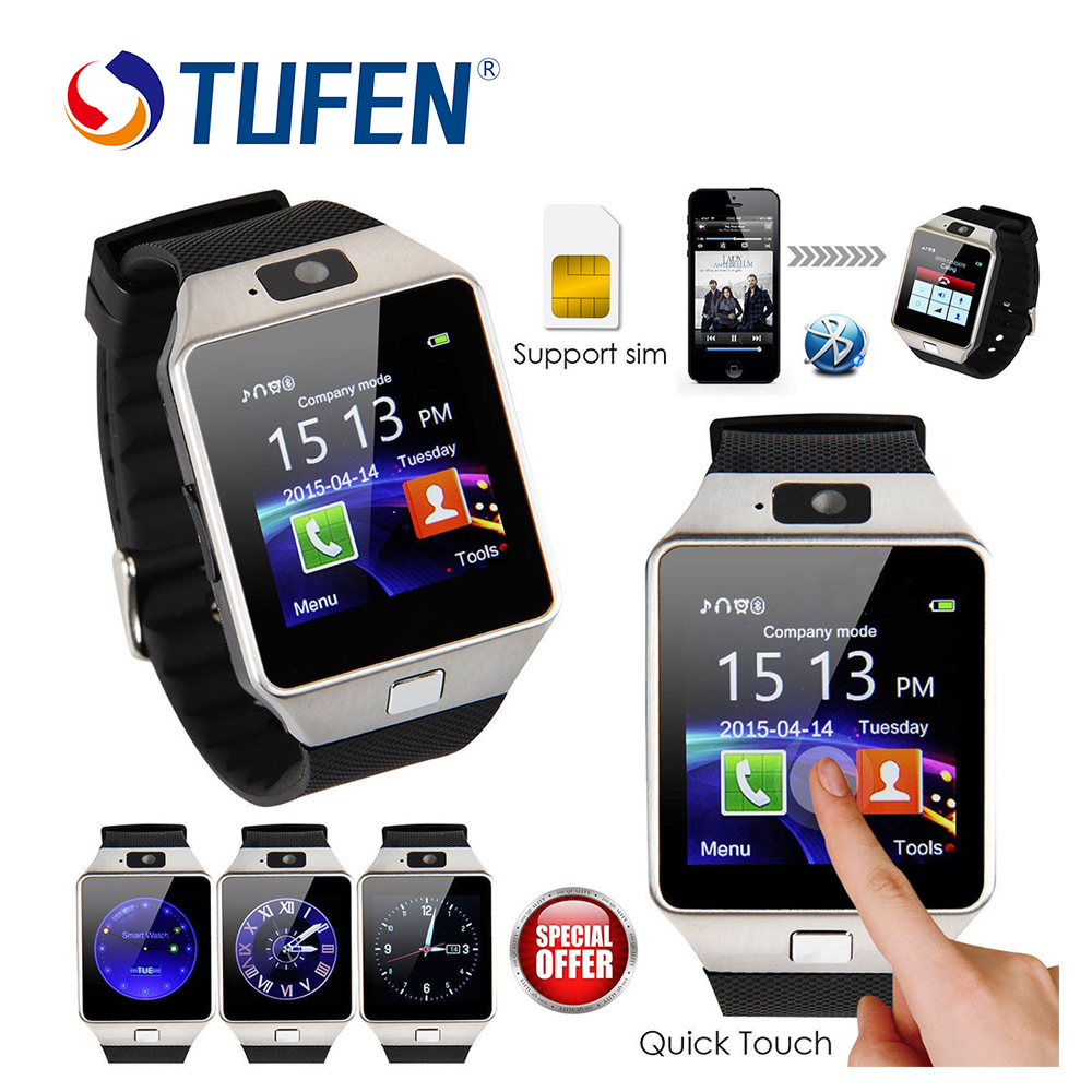 TUFEN Wearable Devices DZ09 Smart Watch Support SIM TF Card Electronics Wrist Phone Watch For Android smartphone Smartwatch pinwei bluetooth smart watch smartwatch wristwatch wearable devices for android phone with camera support sim card pk dz09 gt08
