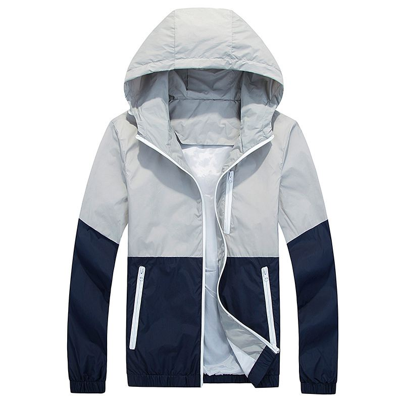 Men Windbreaker Jacket Spring Autumn Fashion Men's Hooded Casual Jackets Male Coat Thin Men Coat Outwear Couple Coat