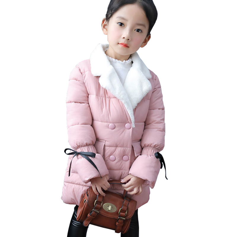 2018 New Winter Jackets Girls Fashion Cotton Girls Outerwear Coats Thickening Warm Girls Parkas Jacket RT071 цена