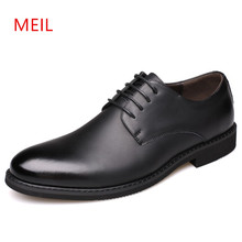 Mens Formal Leather black Dress Shoes for Men Classic Office Leather Oxfords Shoes Men Herren Schuhe Man Business Shoes цена 2017