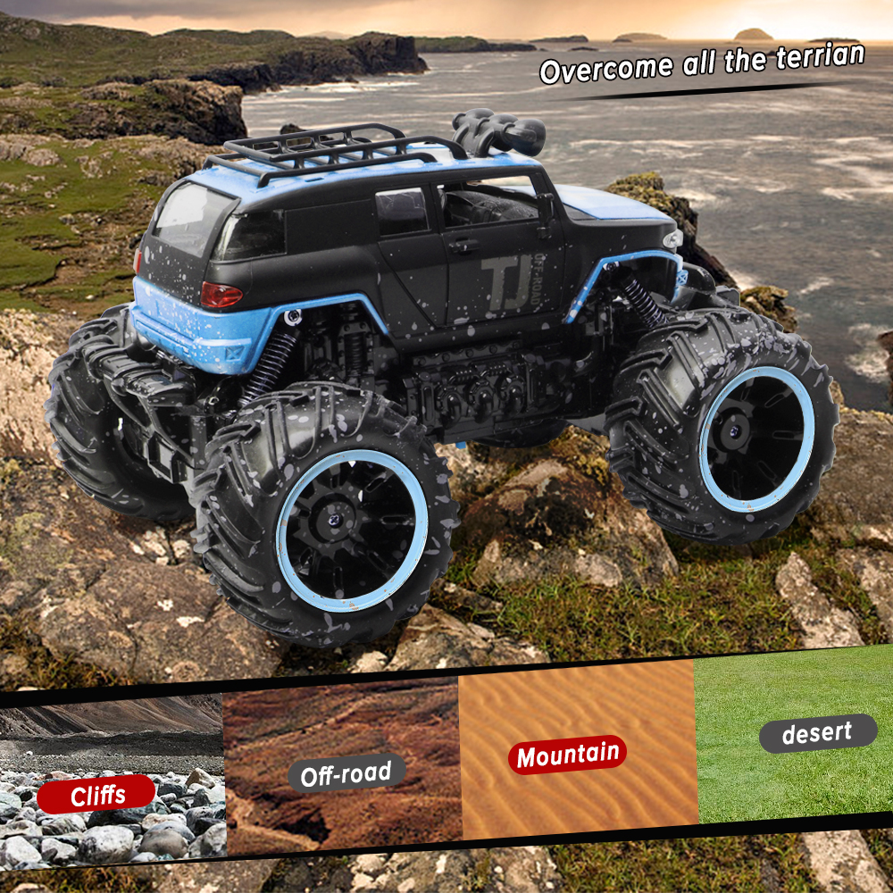 Image 4 - RC Car 2.4G Scale Rock Crawler Remote Control Car Supersonic Monster Truck Off Road Vehicle Buggy xmas gifts for kids-in RC Cars from Toys & Hobbies