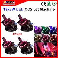 4PCS Special Cryo Effects productions LED DMX512 C02 Jet Cannons Professional Cryo CO2 Jets With LED Lights