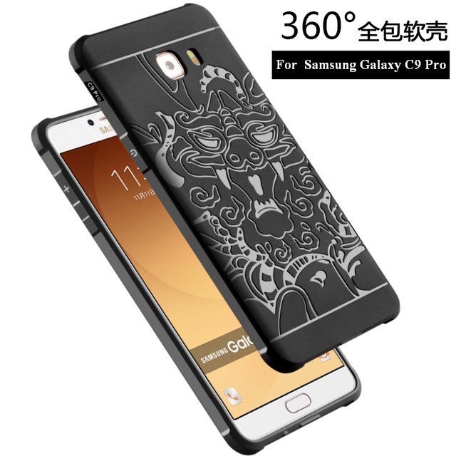 sports shoes 3a074 749d6 US $4.69 6% OFF|New For Samsung Galaxy C9 Pro C9000 Case For Samsung C9 Pro  Back Cover Cases Phone Anti knock Armor Silicon Protection Bag Skin on ...