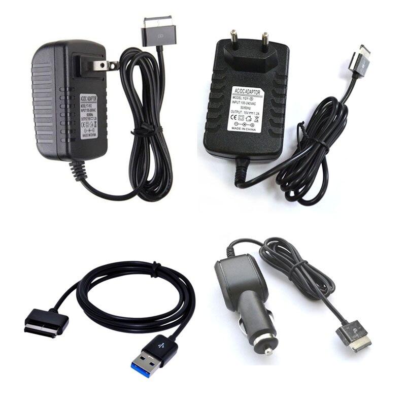 1 шт. USB/Car/AC настенное зарядное устройство для планшета дорожный адаптер трансформатор для Asus 15V1.2A 18 Вт Eee Pad TF700 TF300T TF300 TF201 TF101 SL101
