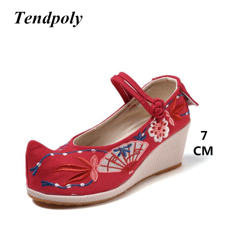 New Chinese national style retro female single shoes spring exquisite embroidery fashion wild cloth shoes hot casual Women shoes smyxhx 10046 fashion casual chinese style hibiscus flowers embroidery soft flat shoes women s old peking national cloth shoes