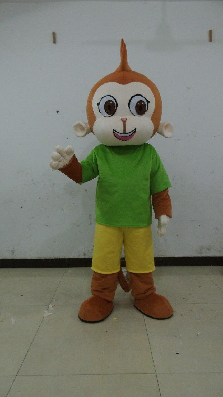 Offre spéciale de haute qualité belle le Costume de mascotte de singe vert Costume de mascotte