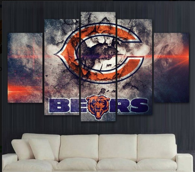 Chicago Bears Wall Art chicago bears art promotion-shop for promotional chicago bears art