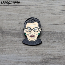 L2992 Ruth Bader Ginsburg Feminism Enamel Pin Brooches Cartoon Creative Metal Brooch Pins Denim Hat Badge Jewelry