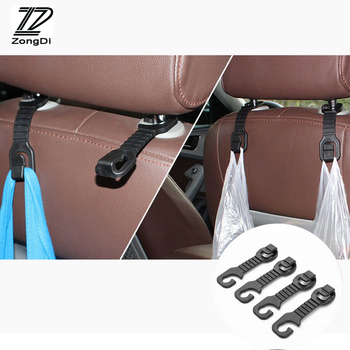 ZD 2pcs Car-styling For Mercedes W203 W211 W204 W210 W205 Benz BMW F10 E34 E30 F20 X5 X6 E70 Car Back Seat Holder Hooks Covers image