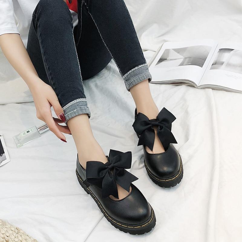 Collège Plates Classique Chaussures Simples 05 02 Petites En Harajuku Pour Femmes coréen 01 04 03 Nouvelle Sauvage Vent 06 Cuir Décontractées 2018 Rétro Étudiants 66rEq8w