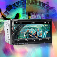 GBtiger 2 Din Car Video Player DVD 7'' Touch Screen Bluetooth Stereo Radio Car Audio Auto Electronics Support Rear View Camera