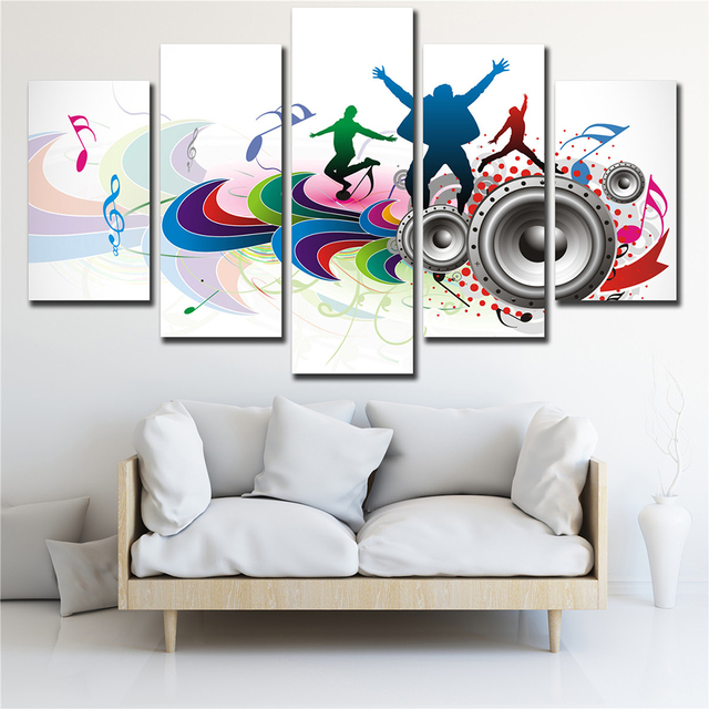 Fashion Living Room Poster Wall Decor Modern Music Art Painting ...