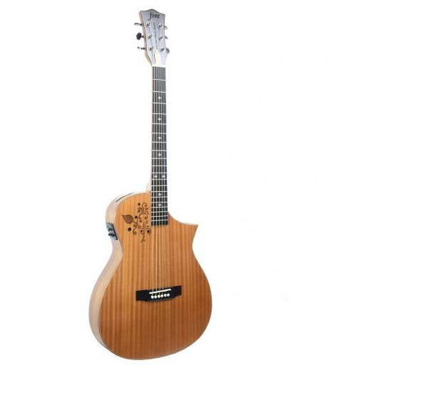 buy cut way flower panel acoustic electric guitar with tuner eq from reliable. Black Bedroom Furniture Sets. Home Design Ideas