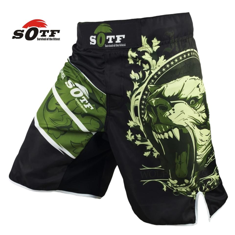 WEICHEN Grünen Bär Fitness atmungsaktive mma kampf workout shorts Tiger muay thai boxing shorts kickboxen shorts pretorian yokkao