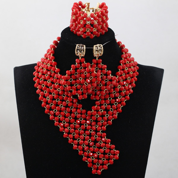 Christmas Gift Red Crystal Sets New Design Nigerian African