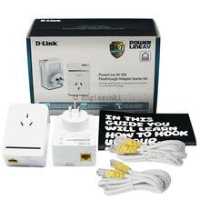 D-LINK DHP-P309AV POWERLINE AV500 сквозной адаптер сетевой стартовый комплект DLINK