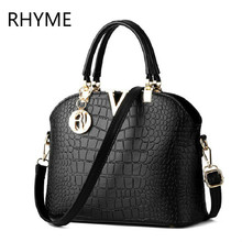 RHYME Spring Women Crocodile Bag Euramerican Fashion Female Grain Shell Sac Alligator Package Shoulder Clutch Lady Handbags