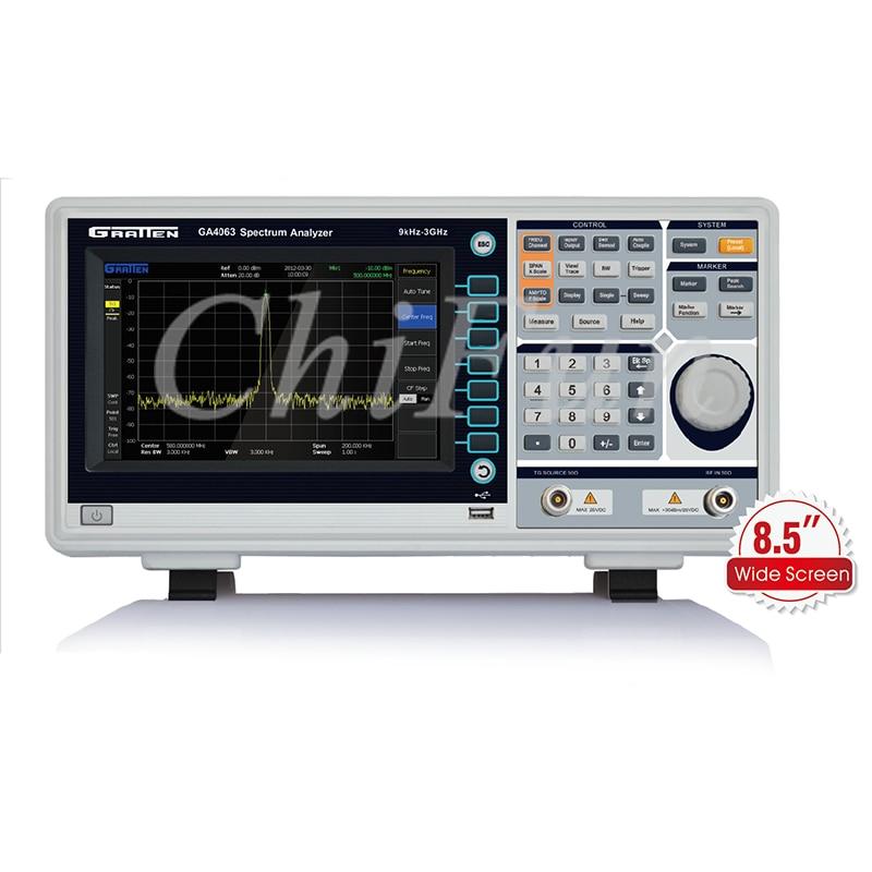 GRATTEN Digital Spectrum Analyzer 9KHz-1.5GHz 8.5 Inches TFT LCD Resolution 800x480 USB Lan RS232