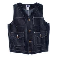 7097b4e7c7a Striped Denim Vests Men Tactical Vest Men with Many Pockets Chalecos Para  Hombre Sleeveless Jacket Gilet colete tatico 2018