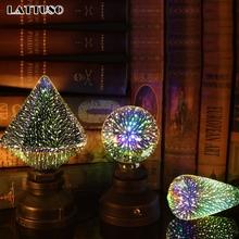 LATTUSO LED Light Edison Bulb 3D Decoration Bulb 220V A60 ST64 G95 G80 G125 E27 Holiday Lights Novelty Christmas Lamp Lamparas cheap Epistar 2700K Irregular ROHS Bubble Ball Bulb 1W High Power living room 360° 50000 Other 250 - 499 Lumens