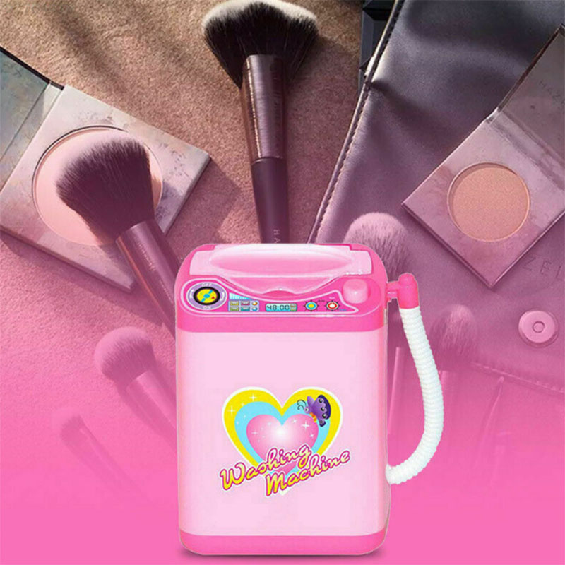 Hot Kids Mini Electronic Washing Machine New Fashion Pre School Play Educational Home Appliances Toy Washer Wash Beauty Sponges