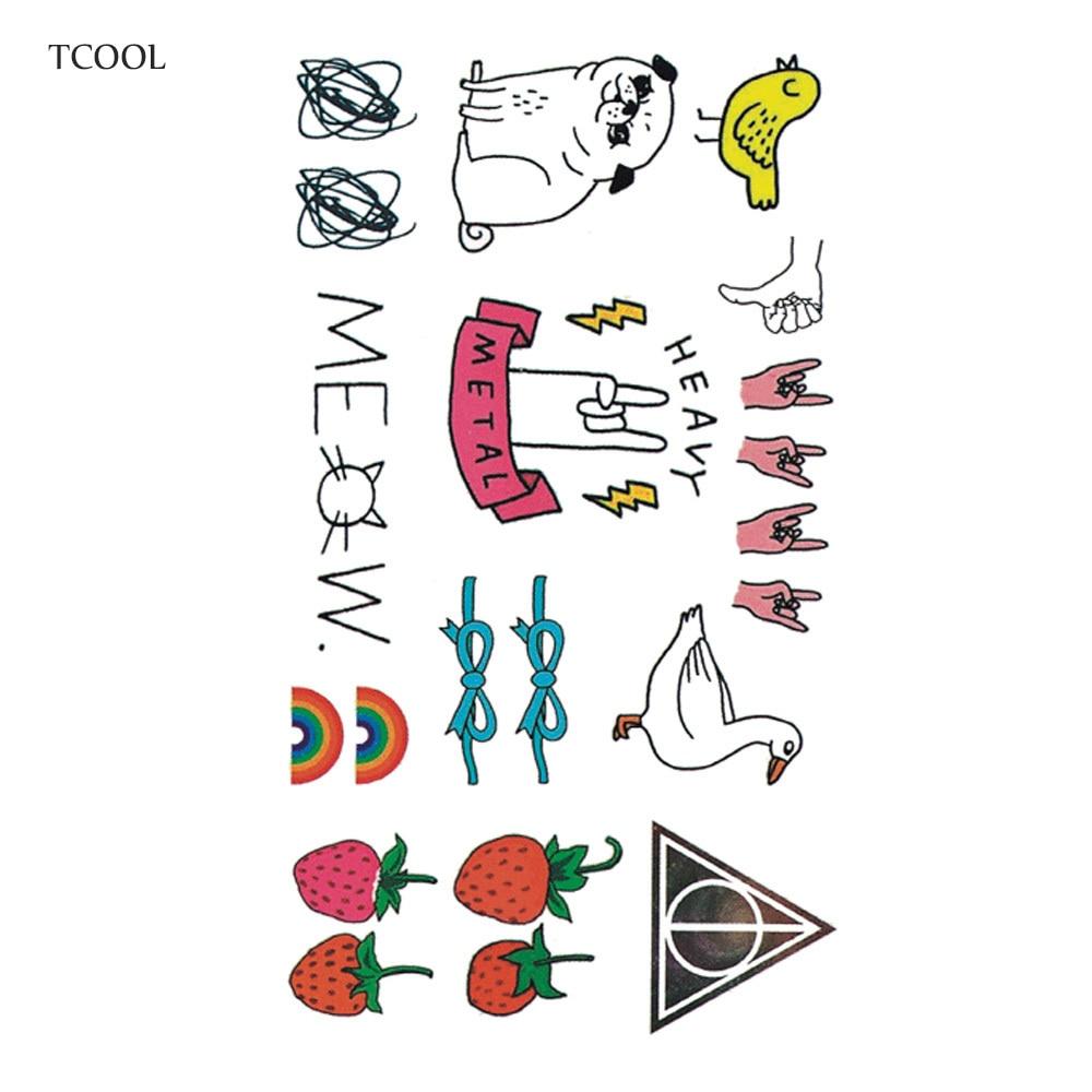 HXMAN Cartoon Kids Temporary Tattoos Waterproof Fashion Fake Body Art Tattoo Sticker 10.5X6cm Girl Hand Tatoo MX-025