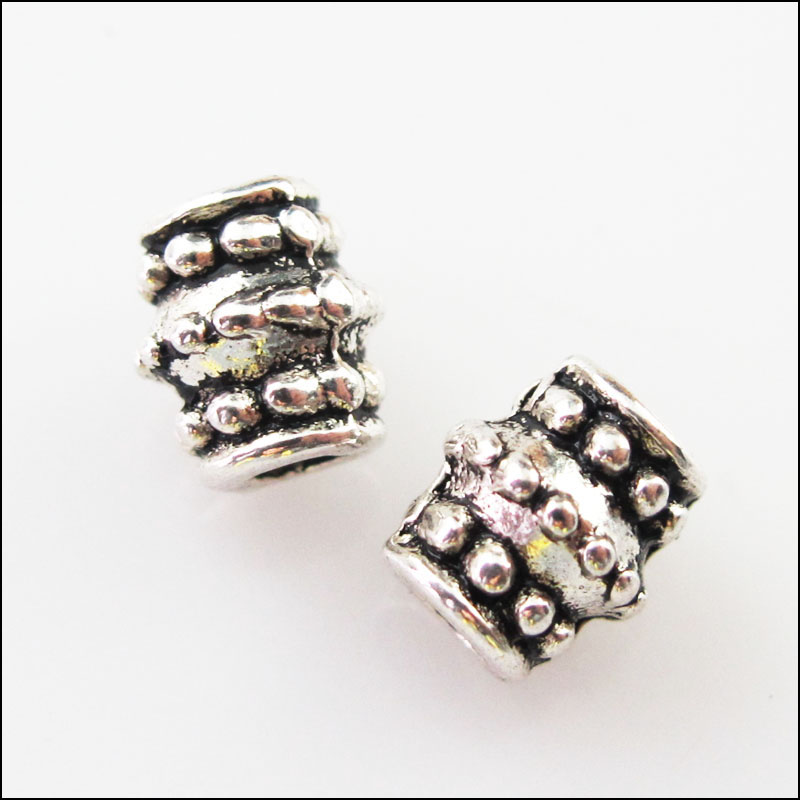 Have An Inquiring Mind 20pcs Tibetan Silver Barrel Tube Spacer Beads Charms 6x7mm Jewelry & Accessories