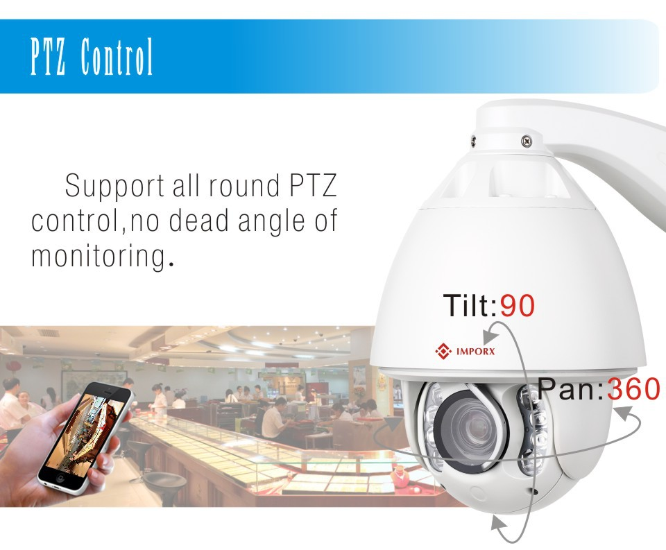 high quality home ip camer wireless China camera wireless Suppliers 30X optical zoom 2MP Auto tracking Audio alarm