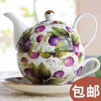 European Royal Flower Bone China Tea Cup Coffee Cup Dish Pot Portable Tea Set Special Offer
