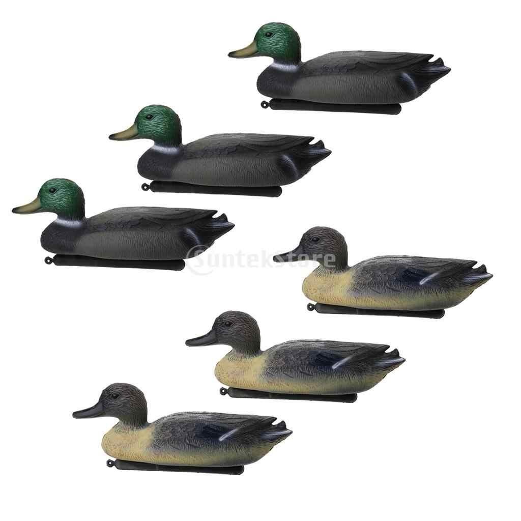 2x Plastic Lifesize Duck /& Swan Decoy with Floating Keel Wildfowler Decoy